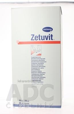 ZETUVIT kompres nasiakavý sterilný (10x20 cm) 1x25 ks