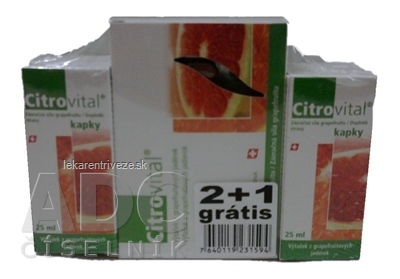 Citrovital mix 2+1 ZDARMA (gtt 2x25 ml + Citrovital cps 30 ks) 1x1 set