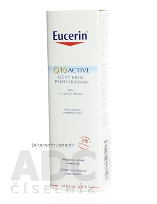 Eucerin Q10 ACTIVE očný krém proti vráskam pre citlivú pokožku 1x15 ml