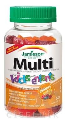 JAMIESON Multi kids GUMMIES želatínové pastilky 1x60 ks