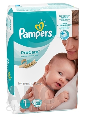 PAMPERS ProCare Premium veľkosť 1 detské plienky, od narodenia (2 - 5 kg) 1x38 ks