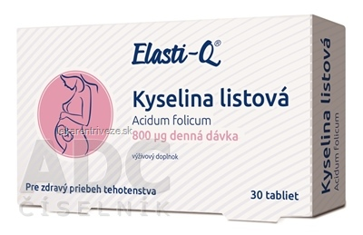 Elasti-Q KYSELINA LISTOVÁ 800 μg tbl 1x30 ks