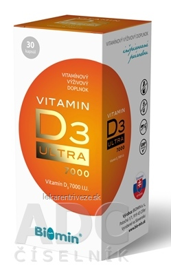 Biomin VITAMIN D3 ULTRA 7000 I.U. cps 1x30 ks