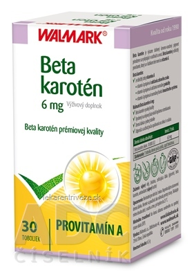WALMARK Beta karotén 6 mg cps 1x30 ks