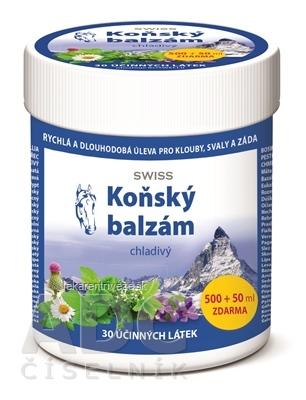 KONSKÝ BALZAM SWISS chladivý (inov.16) 500+50 ml zadarmo (550 ml)