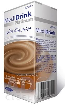 MediDrink Platinum príchuť kávová 30x200 ml