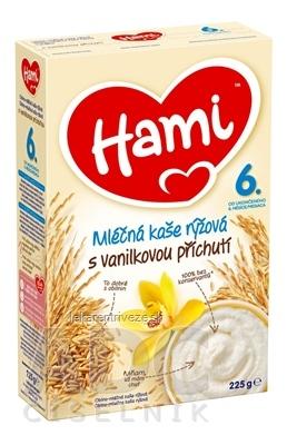 Hami mliečna kaša ryžová s vanilkovou príchuťou (od ukonč. 6. mesiaca) 1x225 g