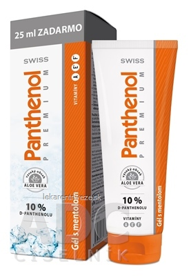SWISS Panthenol PREMIUM Gél s mentolom 100+25 ml zadarmo (125 ml)