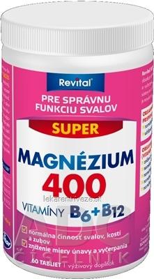Revital SUPER MAGNÉZIUM 400 + VITAMÍNY B6+B12 tbl 1x60 ks