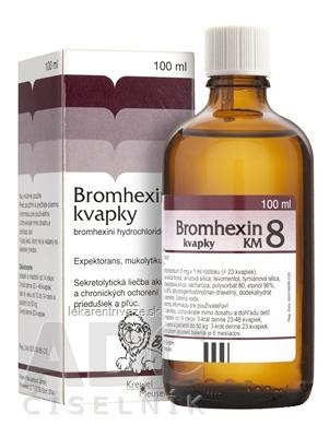 BROMHEXIN 8-KVAPKY KM sol por (liek.skl.hnedá) 1x100 ml