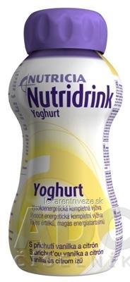 NUTRIDRINK YOGHURT tekutá výživa s príchuťou vanilka a citrón 4x200 ml