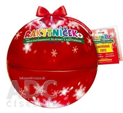 TEREZIA RAKYTNÍČEK+ želatínky vianočná guľa červená (limitovaná edícia 2020) 1x50 ks