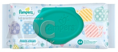 PAMPERS baby wipes FRESH vlhčené obrúsky, 1x64 ks