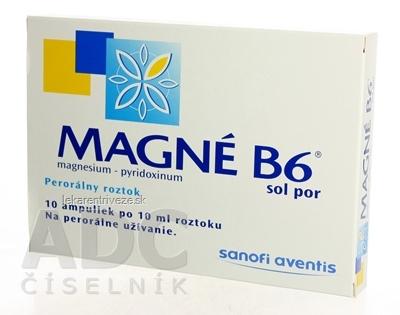 MAGNE-B6 sol por (amp.skl.hnedá) 10x10 ml
