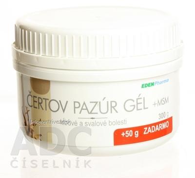 EDENPharma ČERTOV PAZÚR GÉL + MSM 300 g + 50 g zadarmo (350 g)