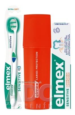 ELMEX SENSITIVE SADA S PÚZDROM zubná pasta 75 ml + zubná kefka 1 ks + puzdro ZDARMA, 1x1 set