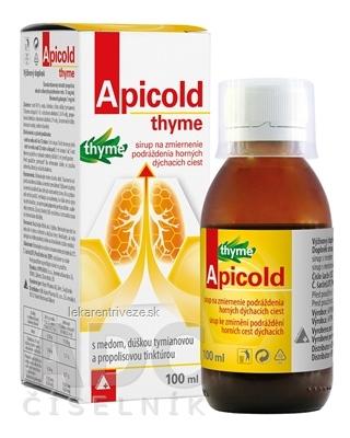 Apicold thyme sirup 1x100 ml