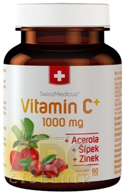 SwissMedicus Vitamín C+ 1000 mg cps 1x60 ks