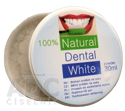 Natural Dental White bieliaci prášok na zuby 1x30 ml