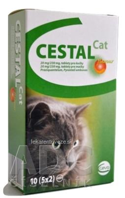 CESTAL CAT flavour 20 mg/230 mg tablety pre mačky 5x2 ks (10 ks)