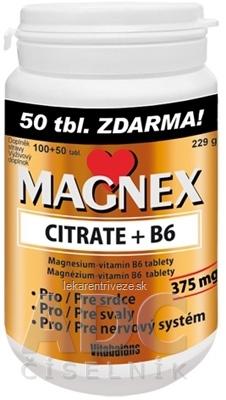 Vitabalans MAGNEX CITRATE + B6 tbl 100+50 zdarma (150 ks)