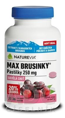 SWISS NATUREVIA MAX BRUSNICE 250 mg pastilky (20% zdarma) 1x36 ks