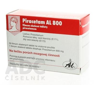 PIRACETAM AL 800 tbl flm 800 mg (blis. PVC/Al) 1x50 ks