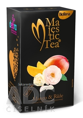 Biogena Majestic Tea Mango & Ruža ovocný čaj 20x2,5 g (50 g)