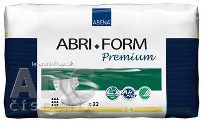 ABENA ABRI FORM Premium S4 plienkové nohavičky priedušné, boky 60-85 cm, savosť 2200 ml, 1x22 ks