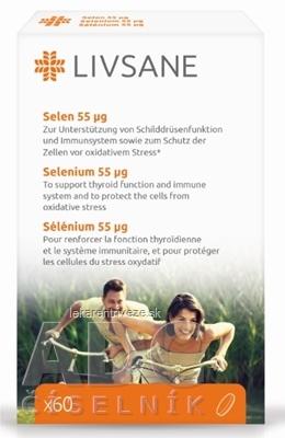 LIVSANE Selén 55 µg tbl 1x60 ks