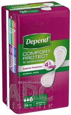 DEPEND NORMAL inkontinenčné vložky pre ženy, 9x25 cm, savosť 250 ml, 1x14 ks