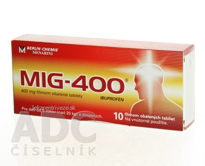 MIG-400 tbl flm 400 mg (blis.) 1x10 ks