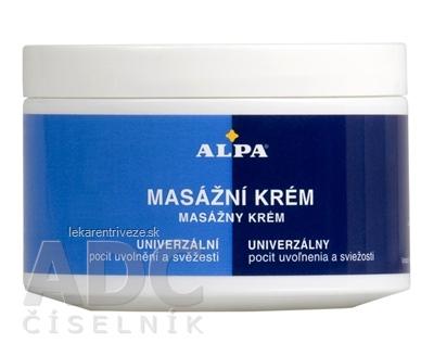 ALPA MASÁŽNY KRÉM 1x250 ml
