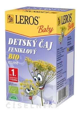 LEROS BABY DETSKÝ ČAJ BIO FENIKLOVÝ 20x1,5 g (30 g)