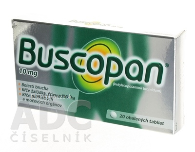 Buscopan tbl obd 10 mg (blis.) 1x20 ks