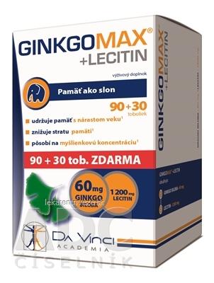 GINKGO MAX + LECITIN - DA VINCI cps 90+30 zadarmo (120 ks)