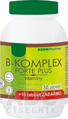 EDENPharma B-KOMPLEX forte plus tbl 30+10 zadarmo (40 ks)