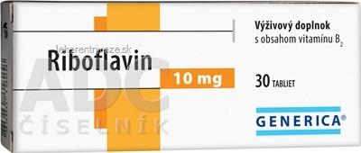 GENERICA Riboflavin 10 mg tbl 1x30 ks