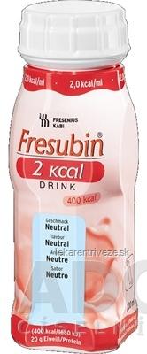 Fresubin 2 kcal DRINK príchuť neutrálna (2,0 kcal/ml), 4x200 ml (800 ml)