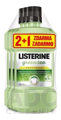 LISTERINE GREEN TEA 2+1 zadarmo ústna voda 3x500 ml, 1x1 set