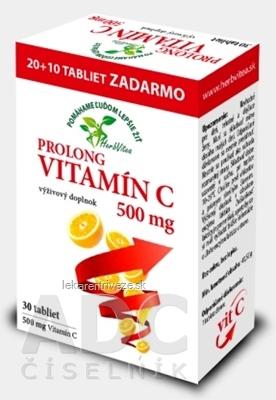 HerbVitea PROLONG VITAMÍN C 500 mg tbl (20+10 zadarmo) (30 ks)