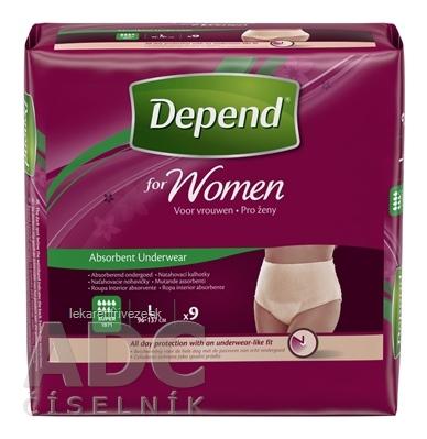 DEPEND SUPER L pre ženy naťahovacie nohavičky 1x9 ks
