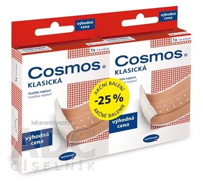 COSMOS KLASICKÁ Textilná náplasť 1m x 6cm, výhodná cena, Akciové balenie 1+1 (-25%), 1x1 set