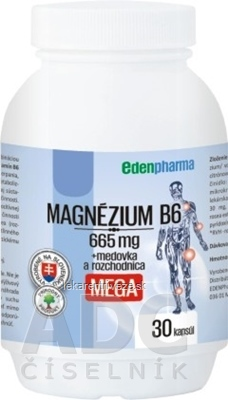 EDENPharma MAGNÉZIUM B6 MEGA cps 1x30 ks