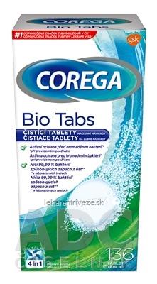 COREGA BIO Tabs antibakteriálne čistiace tablety 1x136 ks