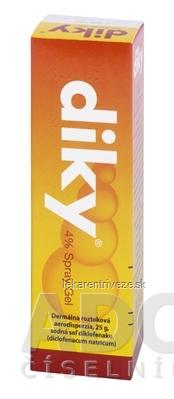 DIKY 4 % Spray Gel aer deo (30 ml fľ. skl. s dávkovačom) 1x25 g