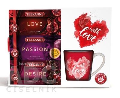 TEEKANNE ON-PACK LOVE + HRNČEK ovocno-bylinné čaje (Love, Passion, Desire) 1x1 set