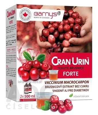 BARNYS CRAN-URIN FORTE tekuté brusnice 2x500 ml (1000 ml), 1x1 set