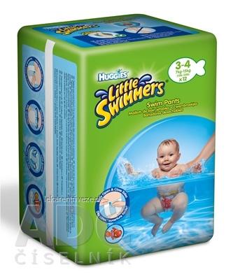 HUGGIES LITTLE SWIMMERS 3/4 plavecké plienky, 7-15 kg, 1x12 ks