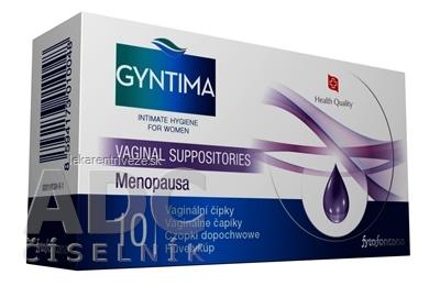 Fytofontana GYNTIMA Menopausa Vaginálne čapíky 1x10 ks